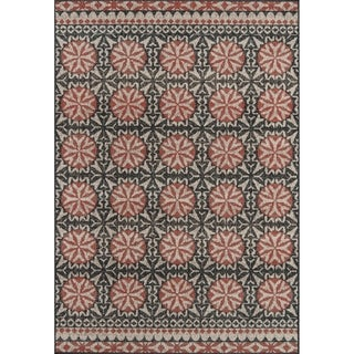 Momeni Baja Black/Grey/Brown Polypropylene Machine-made Indoor/Outdoor Rug