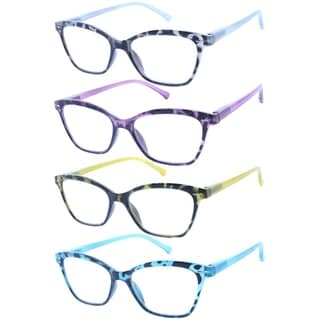 Link to Modern Rectangle leopard print Reading Glasses 4 Pair Pack Similar Items in Eyeglasses