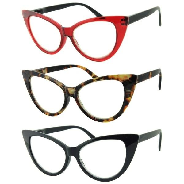 Blue Light Blocking Reading Glasses - 3 Pair Pack