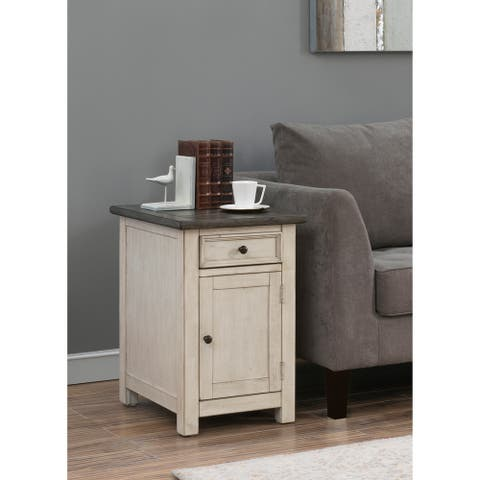 St. Claire One Door One Drawer Chairside Cabinet