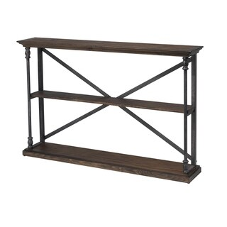 Christopher Knight Home Corbin Brown Pine and Steel Console Table