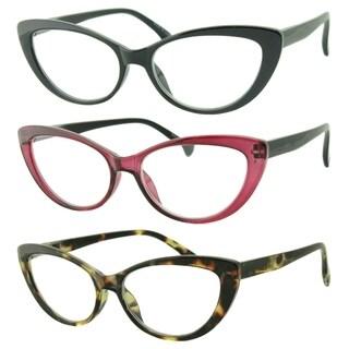 Link to Womens Cat Eye Reading Glasses, 3 Pairs Similar Items in Eyeglasses