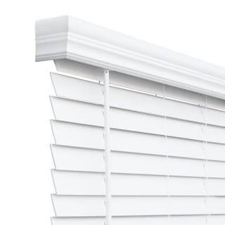 Link to Porch & Den Wakem White Faux Wood 2-inch Cordless Blinds Similar Items in Blinds & Shades