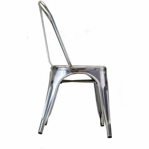 Bastille Side Chair in Gun Metal - N/A