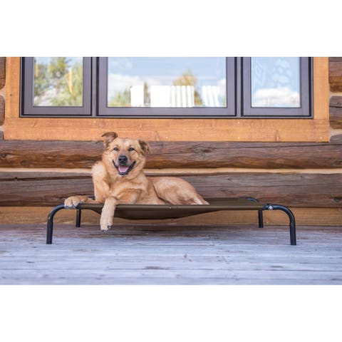 FurHaven Pet Elevated Reinforced Cot Dog Bed