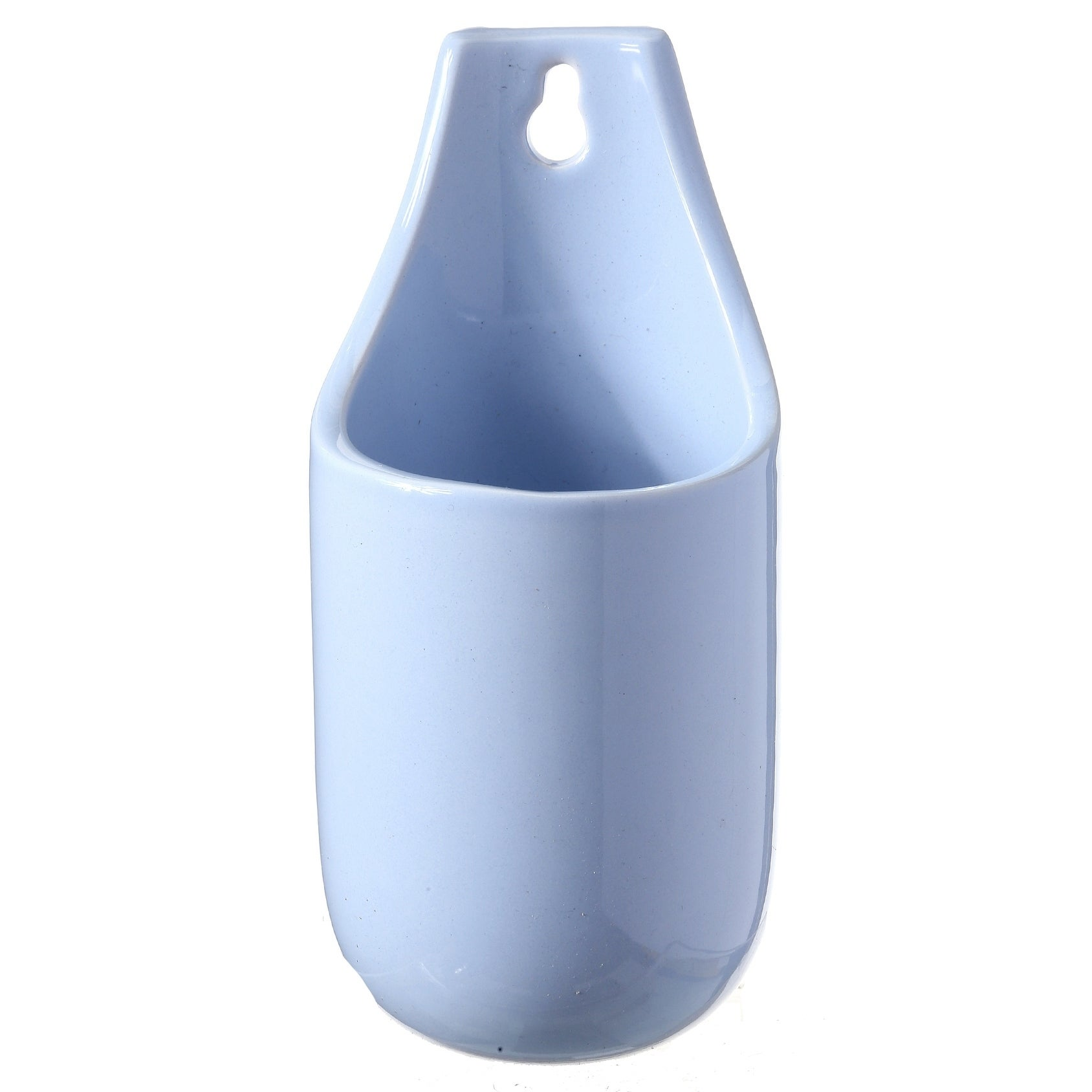 Ceramic Rounded with Curved Bottom Wall Pocket 7 x 3 D (Ceramic - Blue)