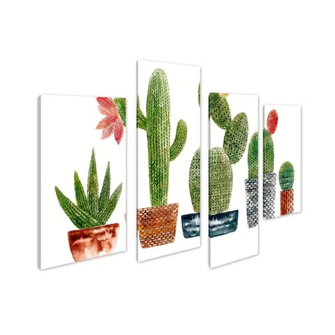 Art Maison Canada, Plant Cactus Giclee Gallery Wrapped Canvas Wall Art