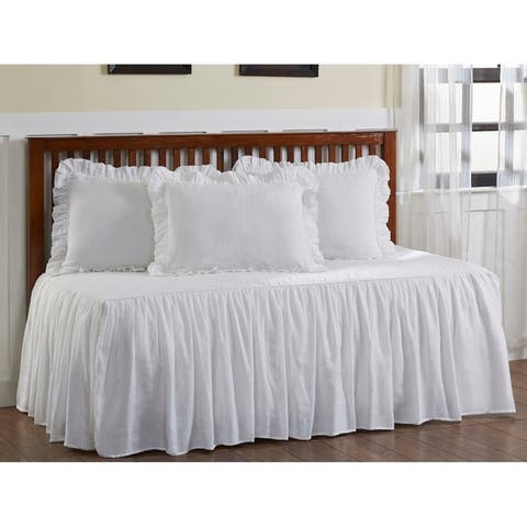 Cottage Home Kaya Ruffled Cotton/ Linen 66 x 88 Day Bed