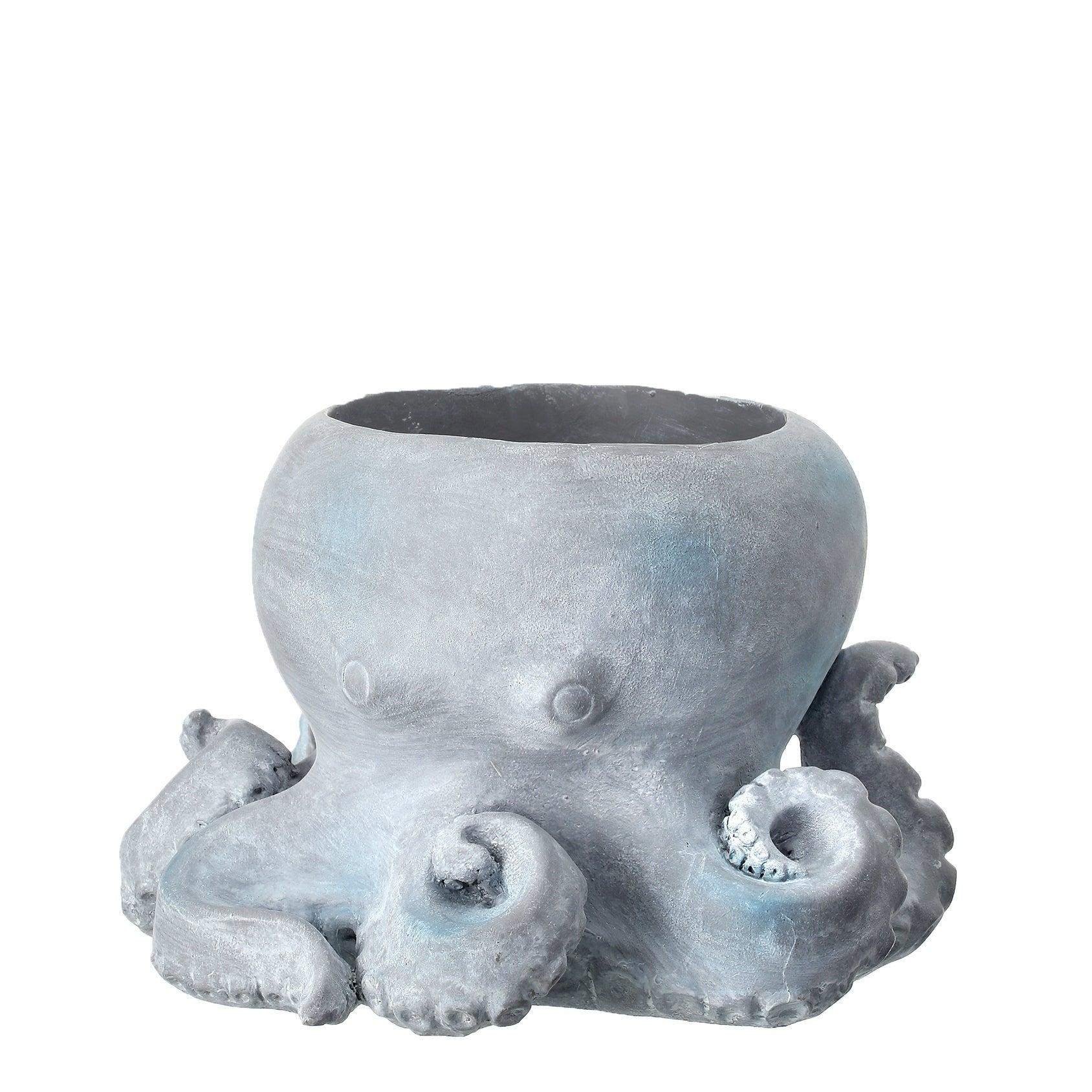 Octopus Stone Planter 10 W X 8 H