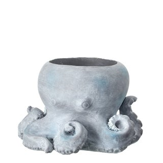 "Octopus Stone Planter 10"" W X 8"" H"