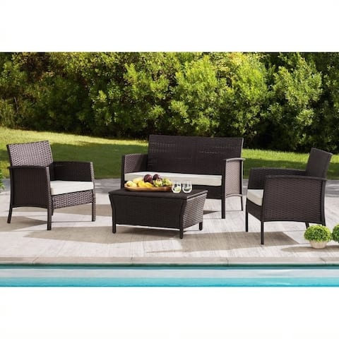 Sunjoy Mosca 4-piece Wicker Seating Set
