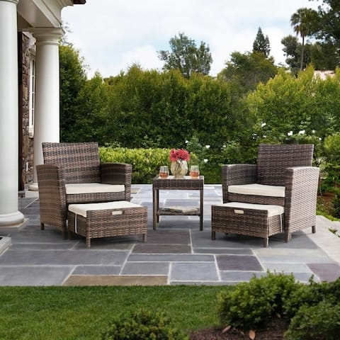 Sunjoy 5-piece Wicker Outdoor Seating Set