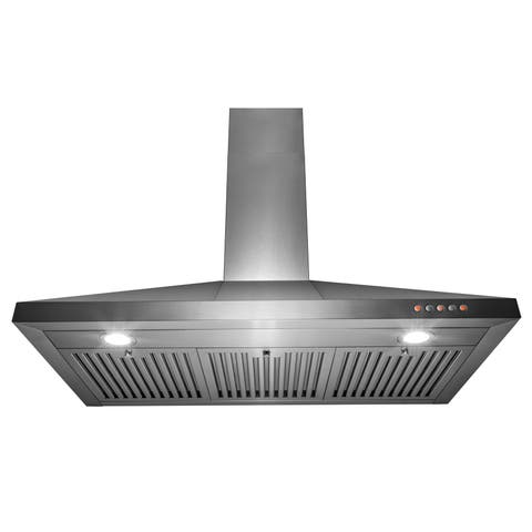 "AKDY 36"" Wall Mount Kitchen Range Hood 3 Speed Touch Control"