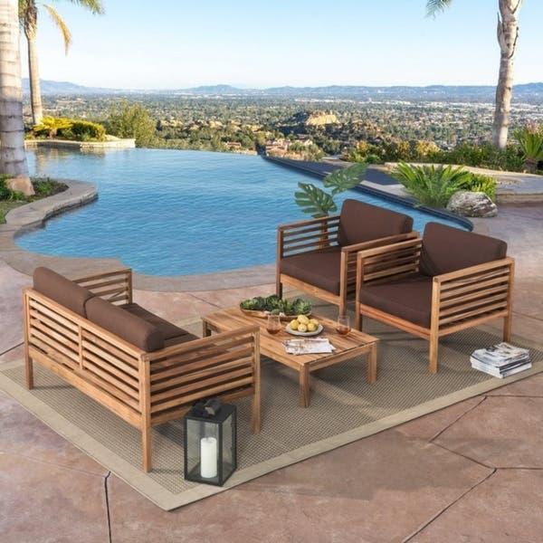 Sunjoy Anderson 4pc Outdoor Sofa