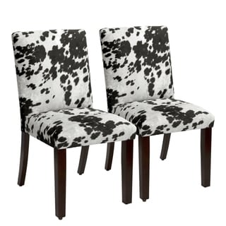 Skyline Furniture Udder Madness Domino Parsons Dining Chair (Set of 2)