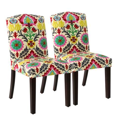 Skyline Furniture Santa Maria Desert Flower Parsons Dining Chair (Set of 2)