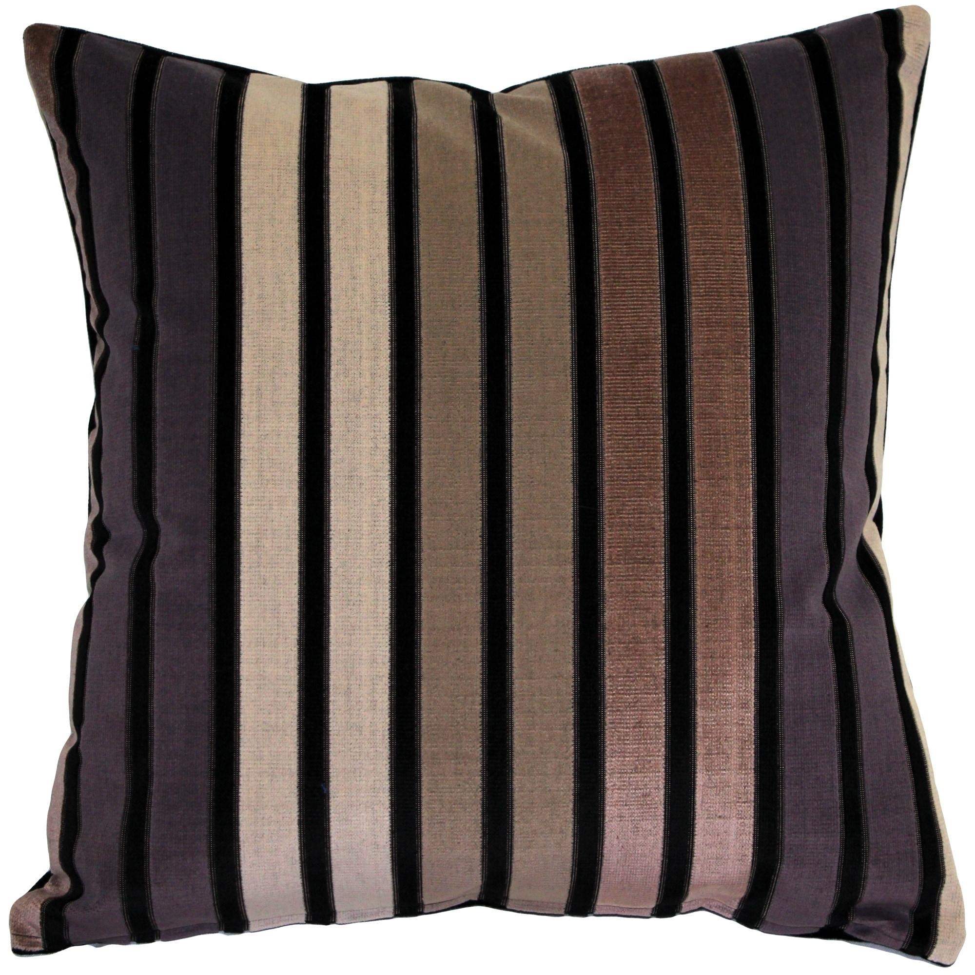 Pillow Decor - Amethyst Stripes Throw Pillow 20x20