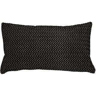 Pillow Decor - Art Deco Stripes Velvet Throw pillow 12x20
