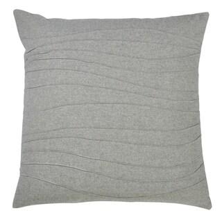 Saro Lifestyle Grey Down-filled Pintucked Throw Pillow