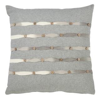 Saro Lifestyle Down-filled Button-work Throw Pillow