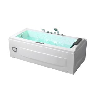 "Empava 67"" Jacuzzi Tub Luxury Water Fall Patented Soaking Massage Tub"