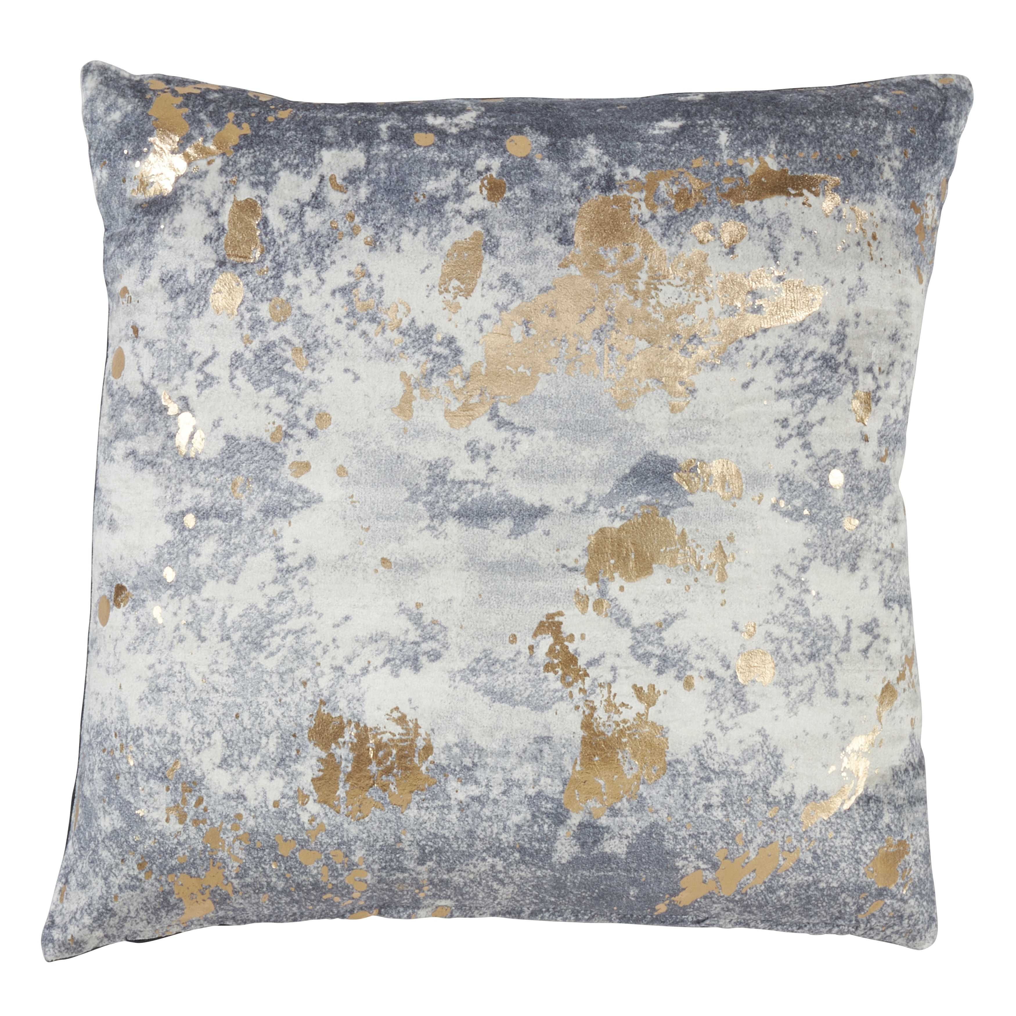 Saro Lifestyle Foil Spattered Throw Pillow with Down Filling