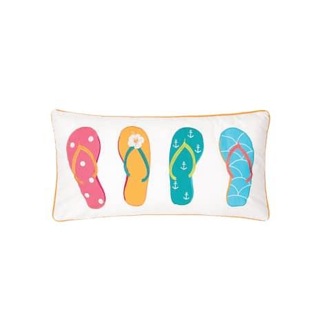 4 Flip Flops 12 x 24 Pillow