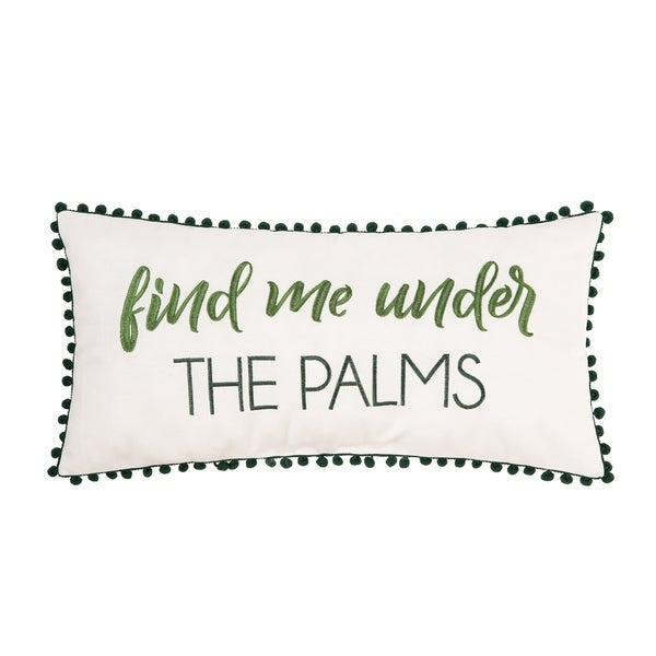 Under The Palms 12 x 24 Pillow