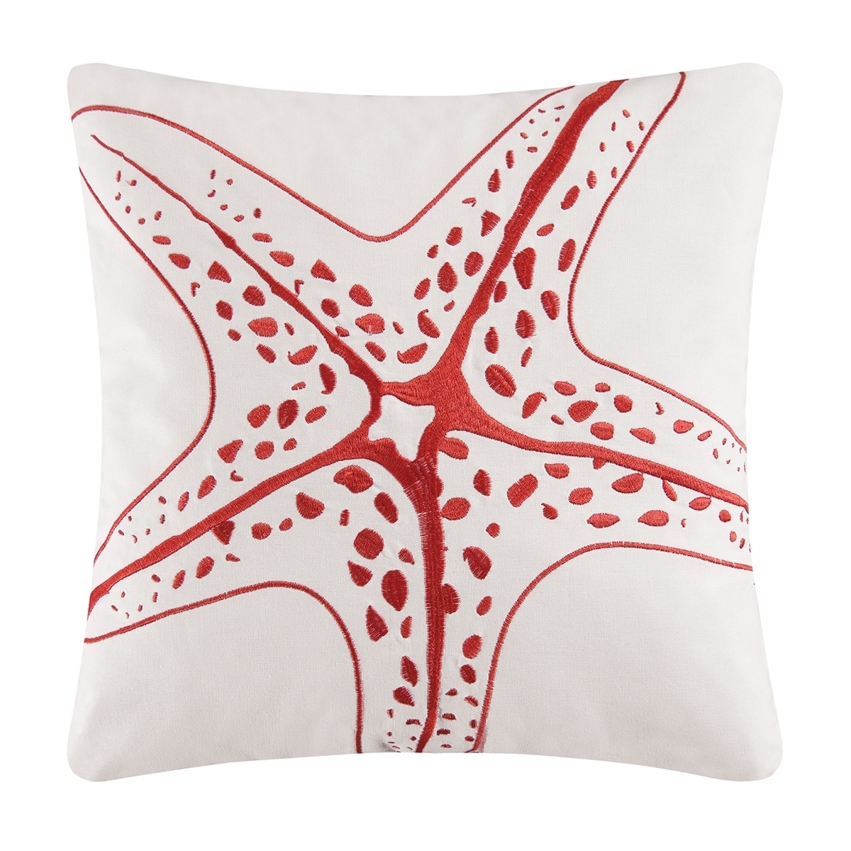 Starfish Embroidered 16 x 16 Pillow