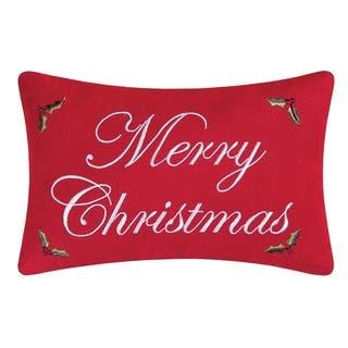 Merry Christmas 8 x 12 Toss Pillow