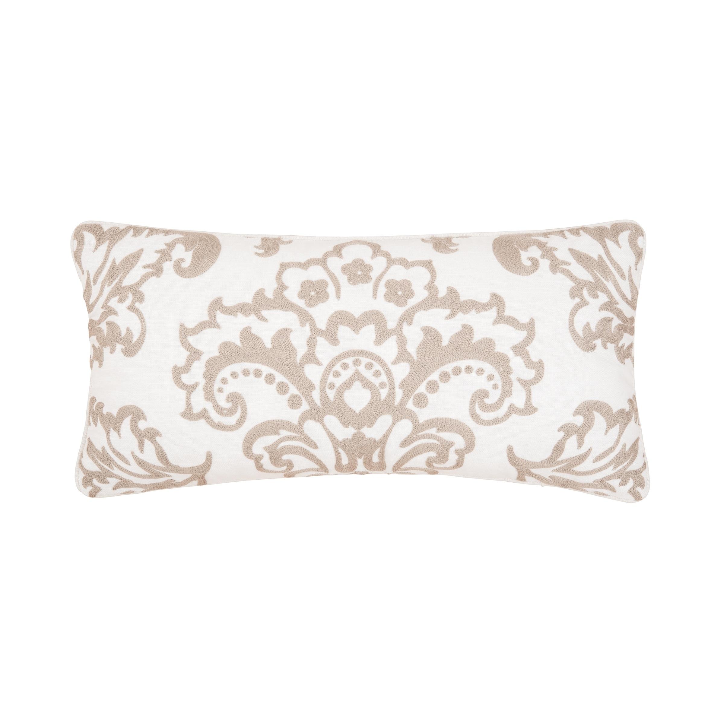 Rosamund Damask 12 x 24 Pillow