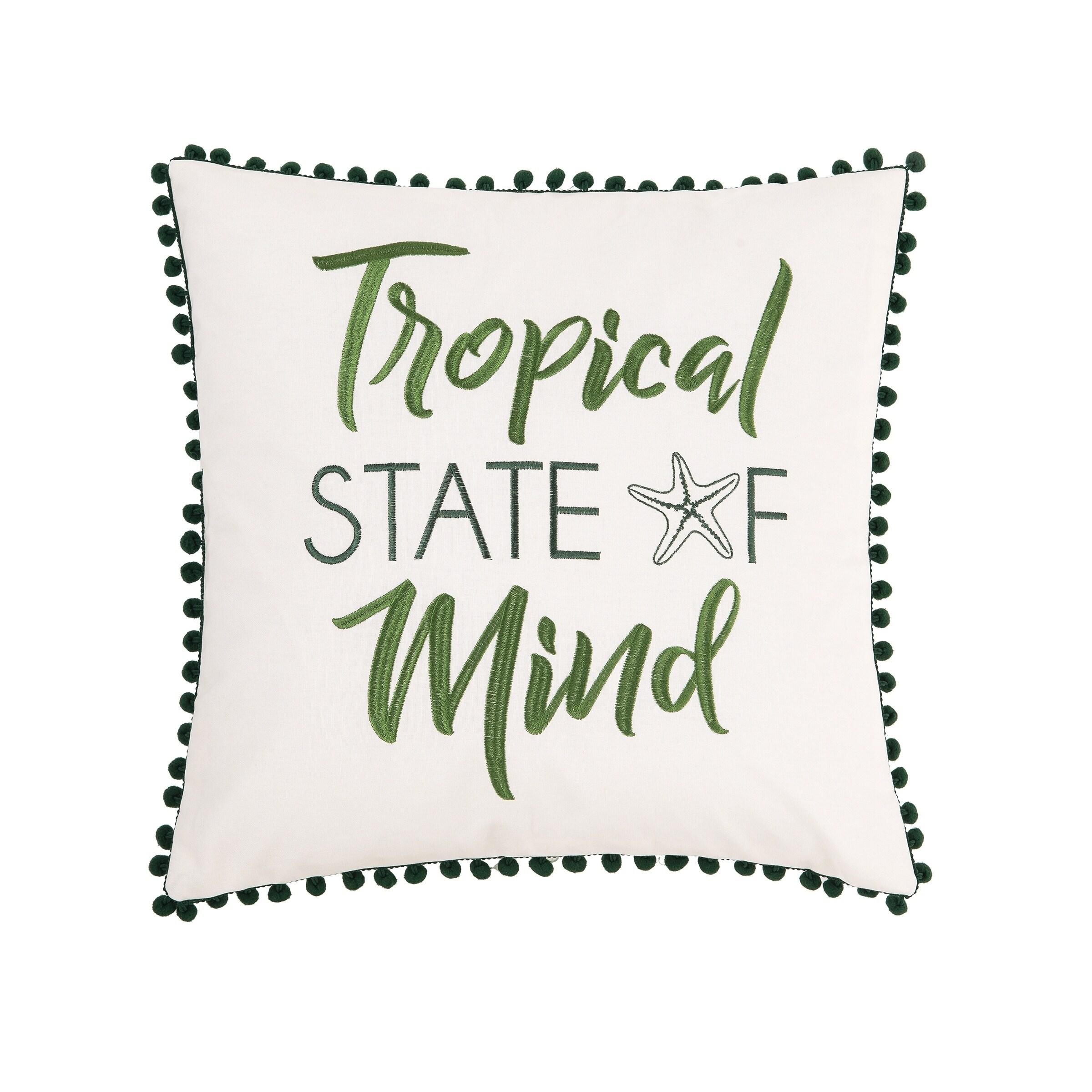 Tropical Mind 18 x 18 Pillow