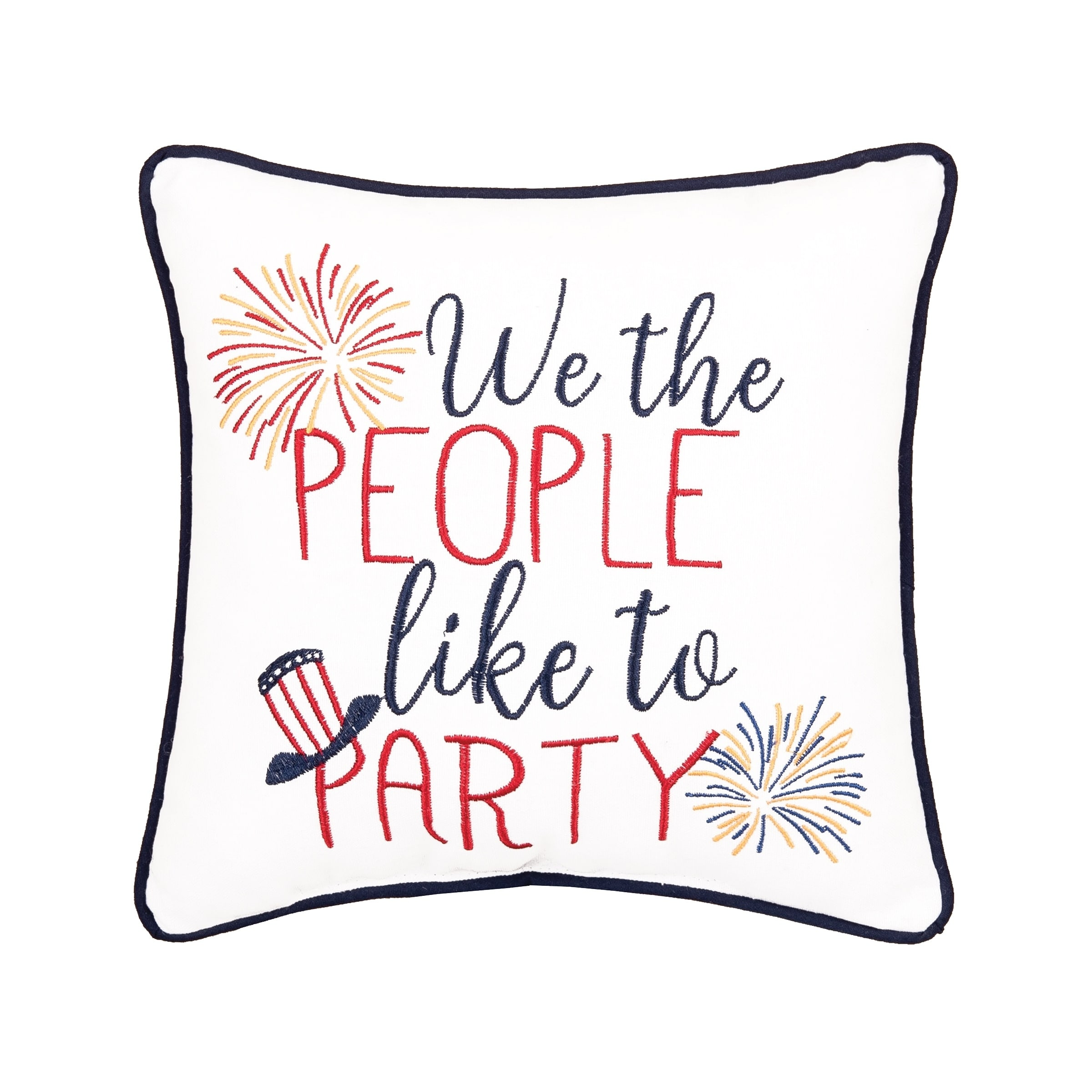 Patriotic 10 x 10 Toss Pillow (Free to Sparkle)