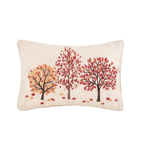 Autumn Bloom Forest 12 x 18 Pillow