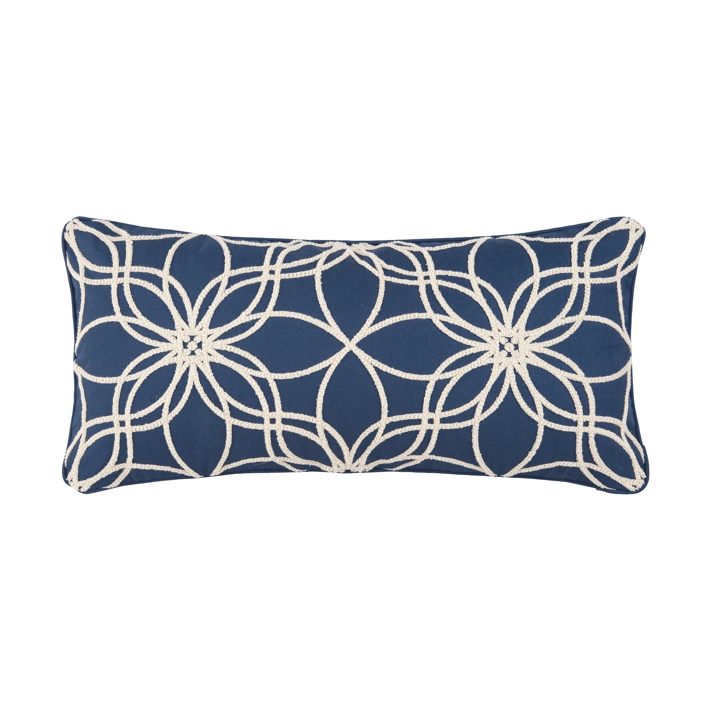 Skylark 12 x 24 Pillow (Indigo/White)