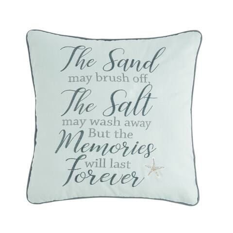 Memories Forever 18 x 18 Decorative Accent Throw Pillow