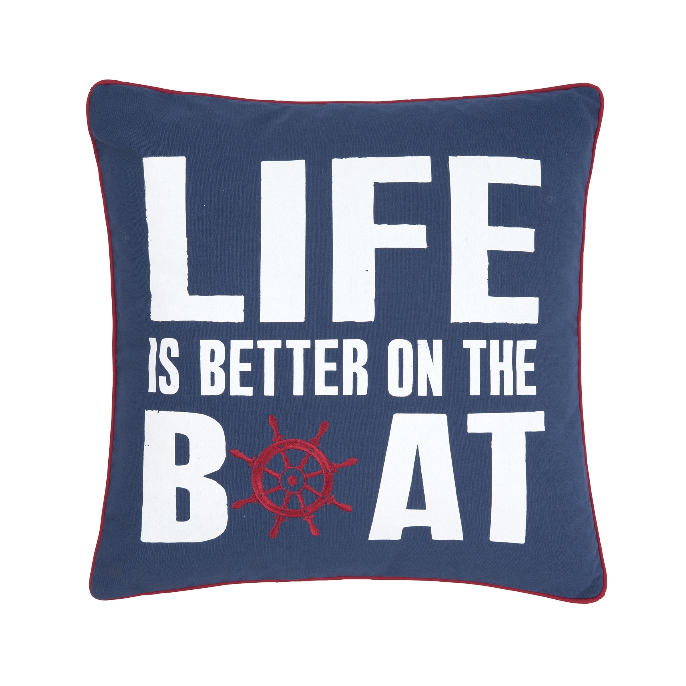 Better On The Boat 18 x 18 Pillow