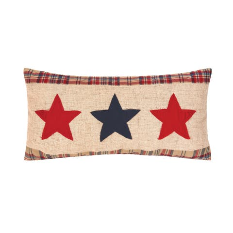 Patriotic Star Spangled 12 x 24 Decorative Accent Throw Pillow