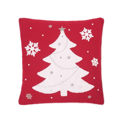Red and White Tree 18 x 18 Pillow