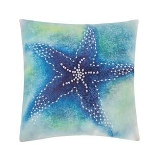 Aqua Starfish 18 x 18 Pillow