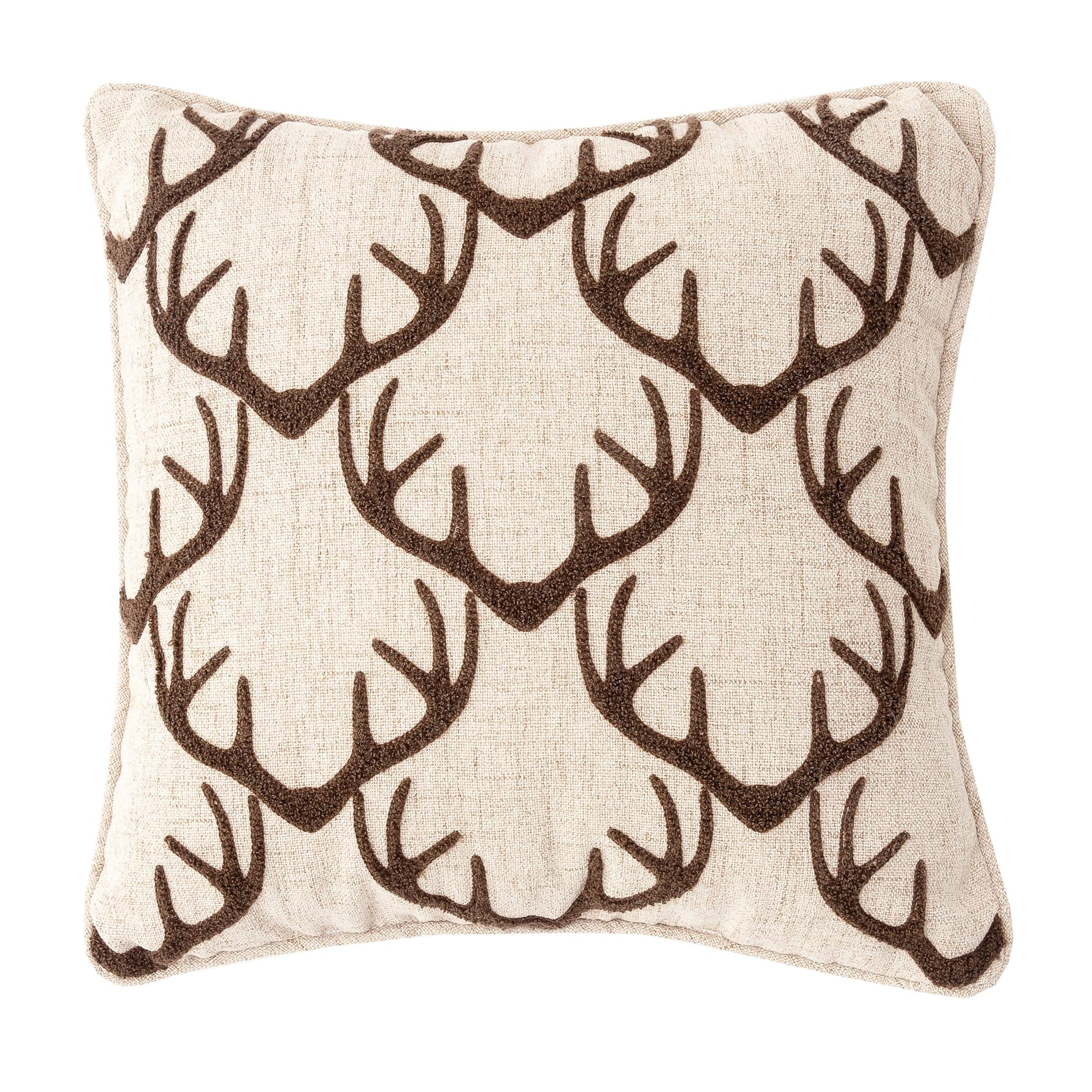 Antler Argyle Tufted 16 x 16 Pillow