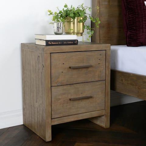Avoca Reclaimed Pine 2 Drawer Nightstand by Kosas Home