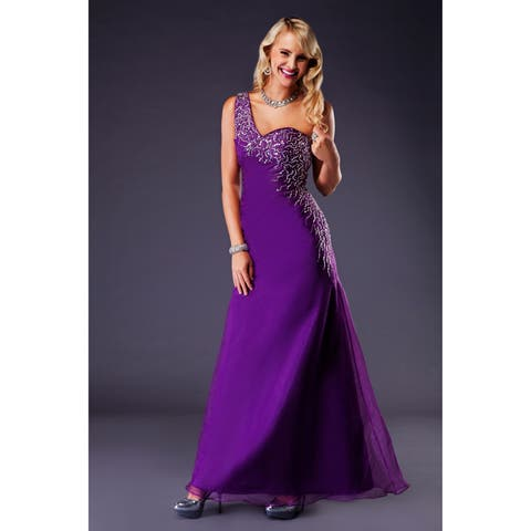 Pyxis knit and beaded net Evening dress