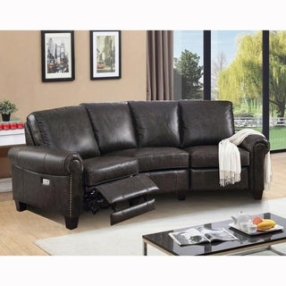Link to Moe Top Grain Distressed Brown Leather Power Reclining Sectional Sofa Similar Items in Living Room Furniture