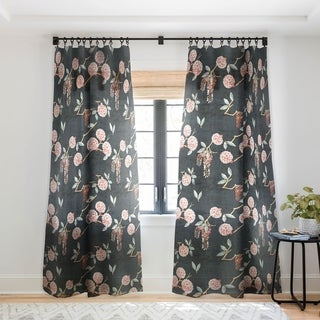 """Holli Zollinger Floralista Single Panel Sheer Curtain 84"""" (As Is Item)"""