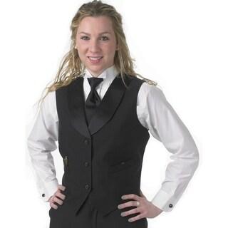 Henry Segal Women's Tailored Satin Shawl Lapel Vest