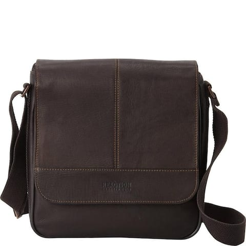 Kenneth Cole Reaction 'Bag For Good' Full-Grain Colombian Leather Crossbody Tablet Messenger RFID Day Bag - Black or Brown
