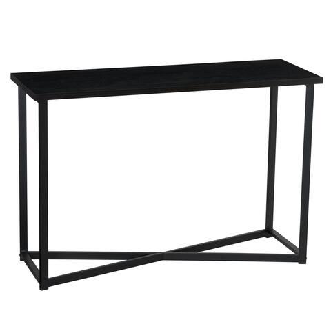 Household Essentials Black Wood Grain Sofa Table, 29.5H x 44.1W x 15.3D