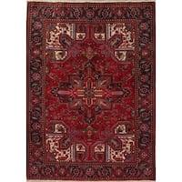 "Heriz Geometric Hand-Knotted Wool Persian Oriental Area Rug - 9'1"" x 6'6"""