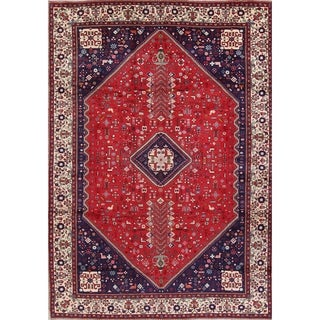 "Abadeh Tribal Geometric Hand-Knotted Wool Persian Oriental Area Rug - 11'6"" x 8'0"""